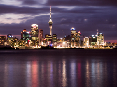 The bright lights of New Zealand's biggest city, Auckland